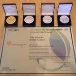 Unsere Urkunde und Medaillen der Bundesgartenschau 2011 in Koblenz