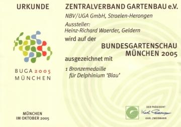 Unsere Auszeichungen auf der Bundesgartenschau 2005