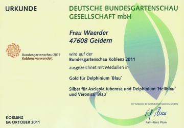 Unsere Auszeichungen auf der Bundesgartenschau 2011 in Koblenz
